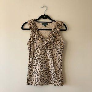 Lauren Ralph Lauren animal print sleeveless top